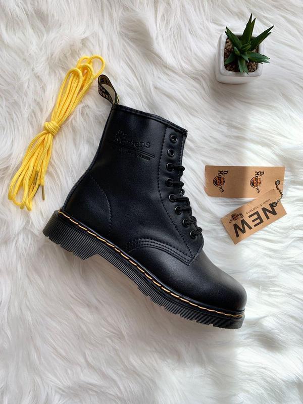 Шикарные женские ботинки dr. martens 1460 black - Фото 8