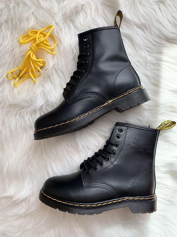 Шикарные женские ботинки dr. martens 1460 black - Фото 9