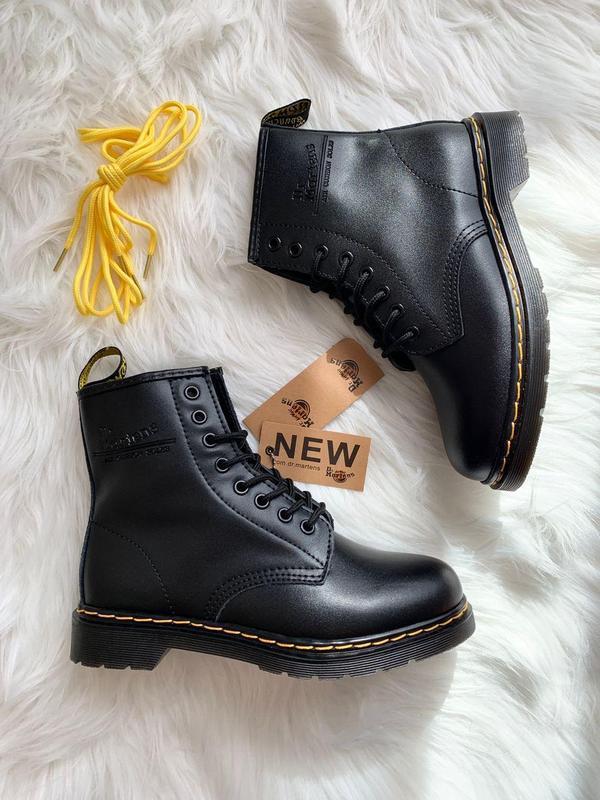Шикарные женские ботинки dr. martens 1460 black - Фото 10