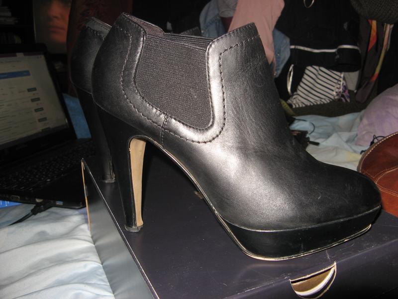 Ботинки туфли ботильоны на каблуке платформа кожа 5th avenue р...