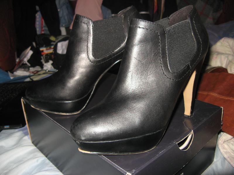 Ботинки туфли ботильоны на каблуке платформа кожа 5th avenue р... - Фото 5
