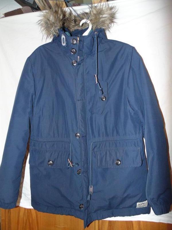 Куртка пуховик парка натуральный пух jack wills оригинал размер l