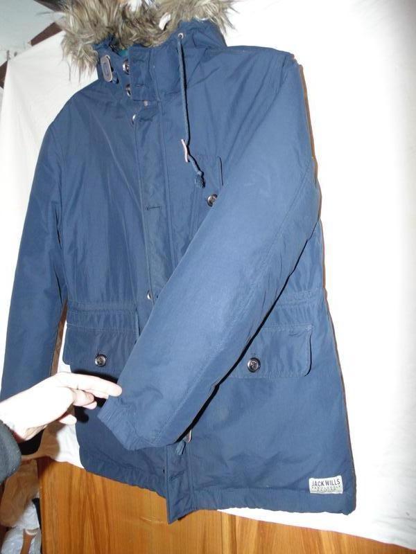 Куртка пуховик парка натуральный пух jack wills оригинал размер l - Фото 2