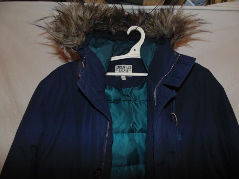 Куртка пуховик парка натуральный пух jack wills оригинал размер l - Фото 3