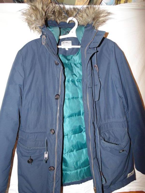 Куртка пуховик парка натуральный пух jack wills оригинал размер l - Фото 5