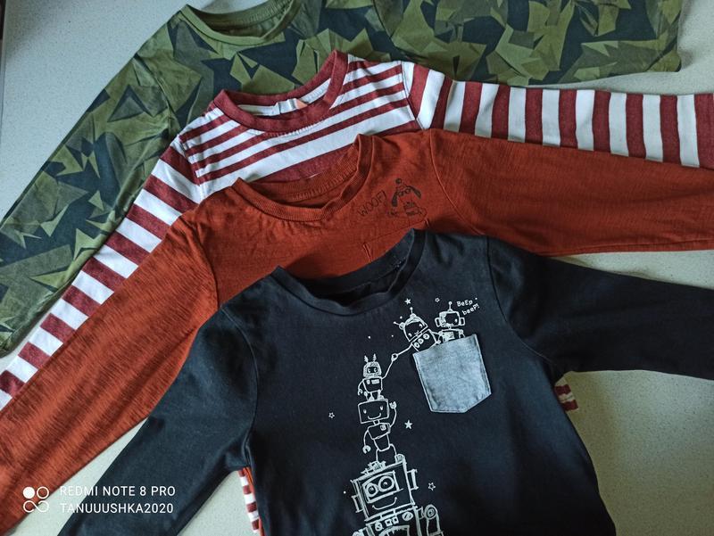 Набор футболок с длинными рукавами для мальчика 4-5 лет