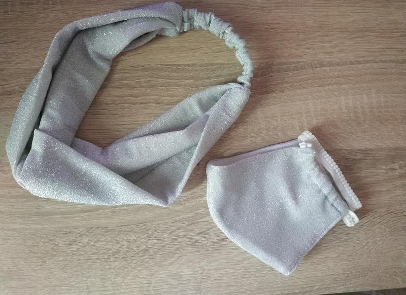 Комплект: повязка на голову защитная + маска многоразового исп...