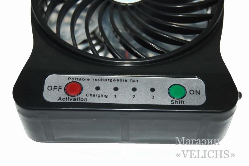 Аккумуляторный - USB мини вентилятор - Фото 11