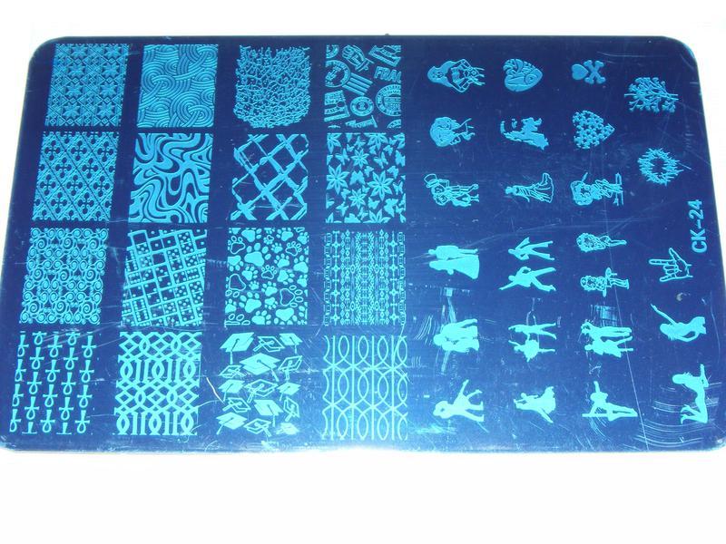 Плитка СК стемпинг клише форма для дизайна ногтей трафарет - Фото 4