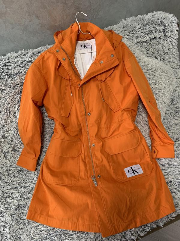 Парка куртка плащ calvin klein jeans оригинал трендовый цвет - Фото 5
