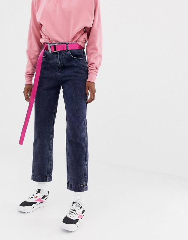 Джинсы мам прямые mom jeans asos в стиле zara