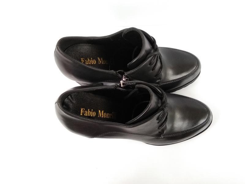 Черные туфли на каблуке, чорні туфлі на каблуку 38р-24,5 см - Фото 4