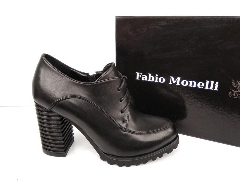 Черные туфли на каблуке, чорні туфлі на каблуку 38р-24,5 см - Фото 6