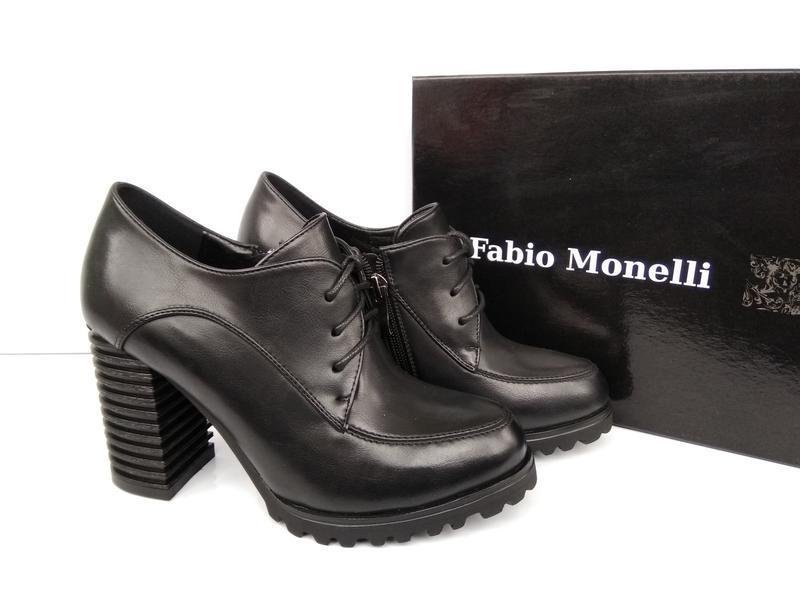 Черные туфли на каблуке, чорні туфлі на каблуку 38р-24,5 см - Фото 7