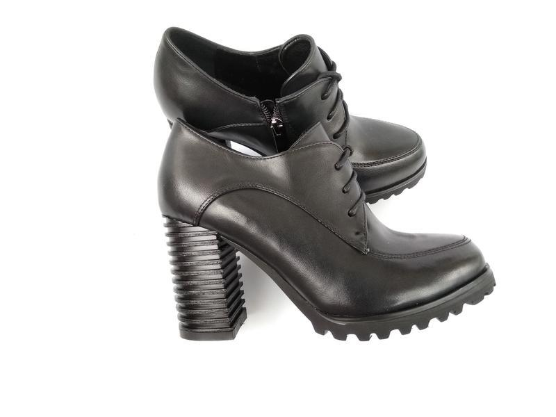 Черные туфли на каблуке, чорні туфлі на каблуку 38р-24,5 см - Фото 8