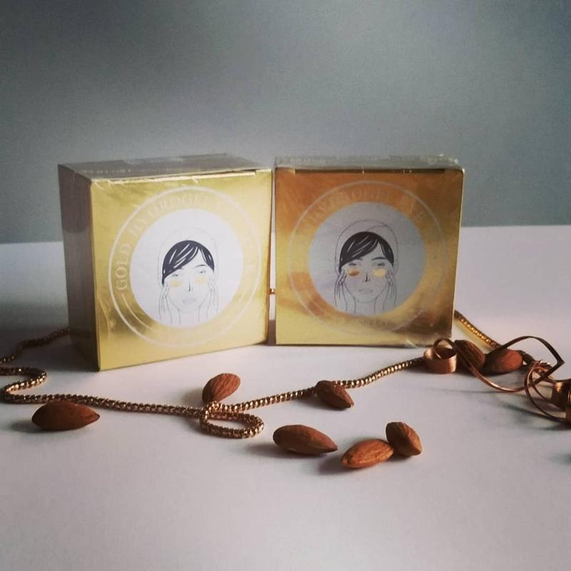 Гидрогелевые патчи для глаз lankouo gold hydrogel eye mask
