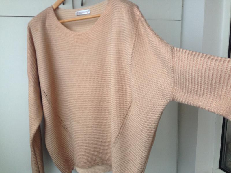 Стильный джемпер, свитер оверсайз с золотым напылением serianno