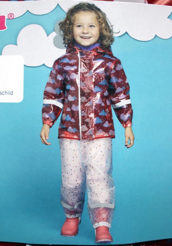 Набор дождевик куртка + штаны грязепруфы  lupilu 98-104 - Фото 7