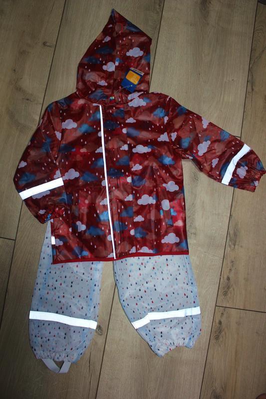 Набор дождевик куртка + штаны грязепруфы  lupilu 98-104 - Фото 9