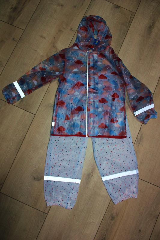 Набор дождевик куртка + штаны грязепруфы  lupilu 86-92 - Фото 5