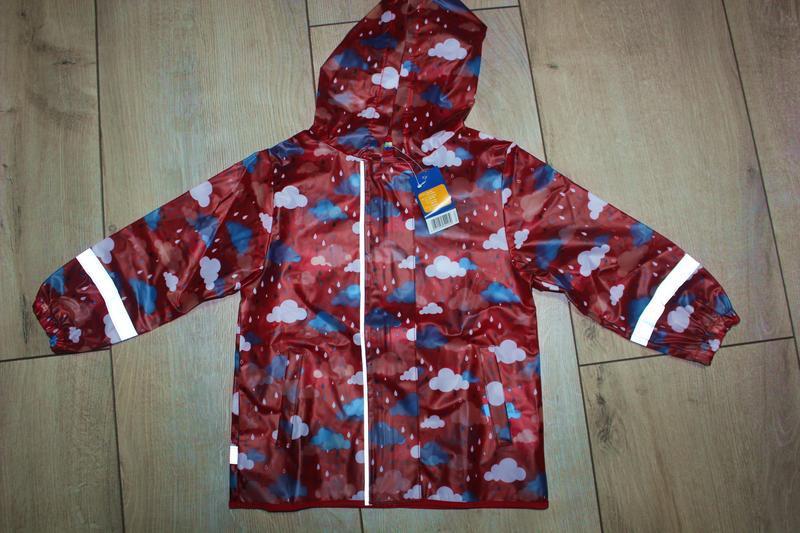 Набор дождевик куртка + штаны грязепруфы  lupilu 86-92 - Фото 7