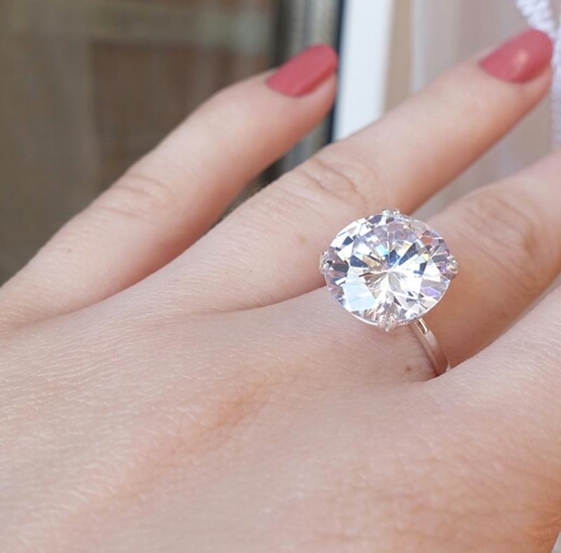 Кольцо с крупным камнем - Фото 2