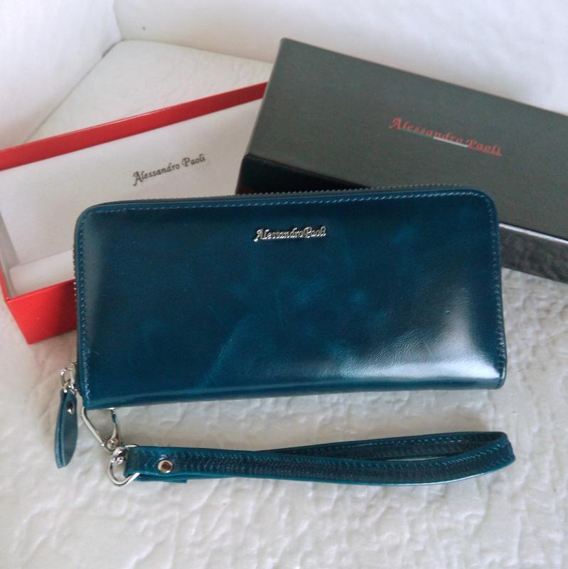Женский кожаный кошелёк портмоне 4 цвета