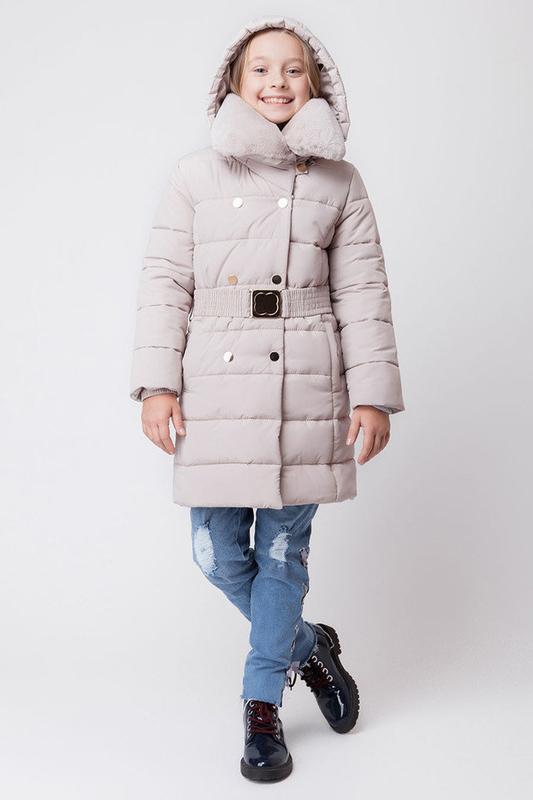 Зимняя куртка для девочки бежевая