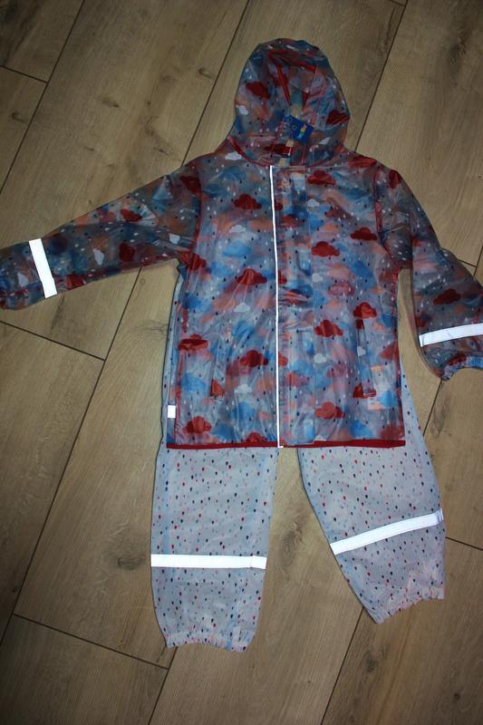Набор дождевик куртка штаны грязепруфы lupilu 110-116 - Фото 7