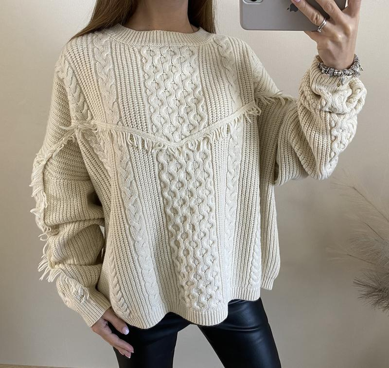 Очень тёплый бежевый свитер no name - Фото 2