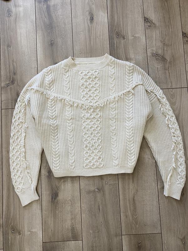 Очень тёплый бежевый свитер no name - Фото 4