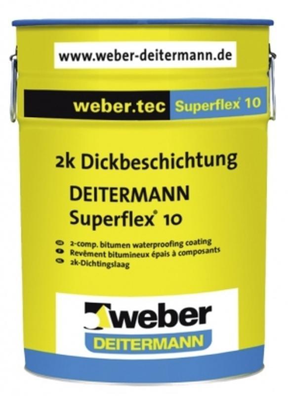 Superflex 10 - эластичное битумное  покрытие для  гидроизоляции