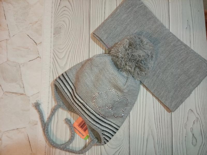 Шапка шарф осенний демисезонный комплект набор magrof