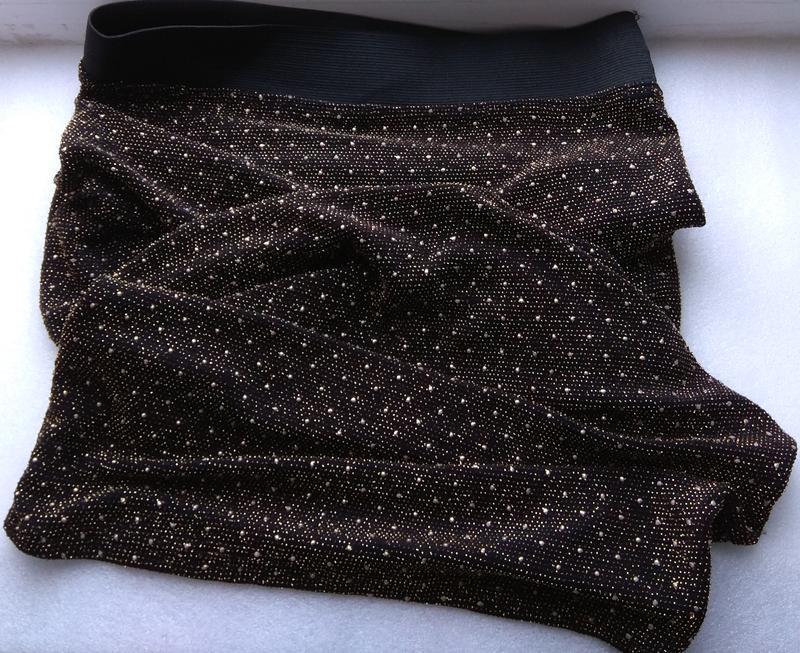 Крутая юбка удлиненная с бисером и люрексом - Фото 8