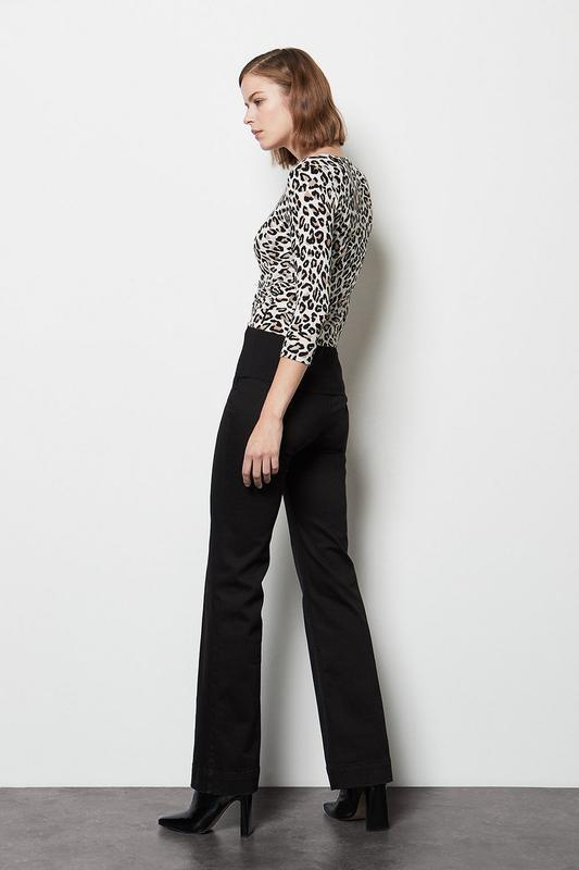 Анималистичный принт леопард кардиган до талии  кофта пуловер ...