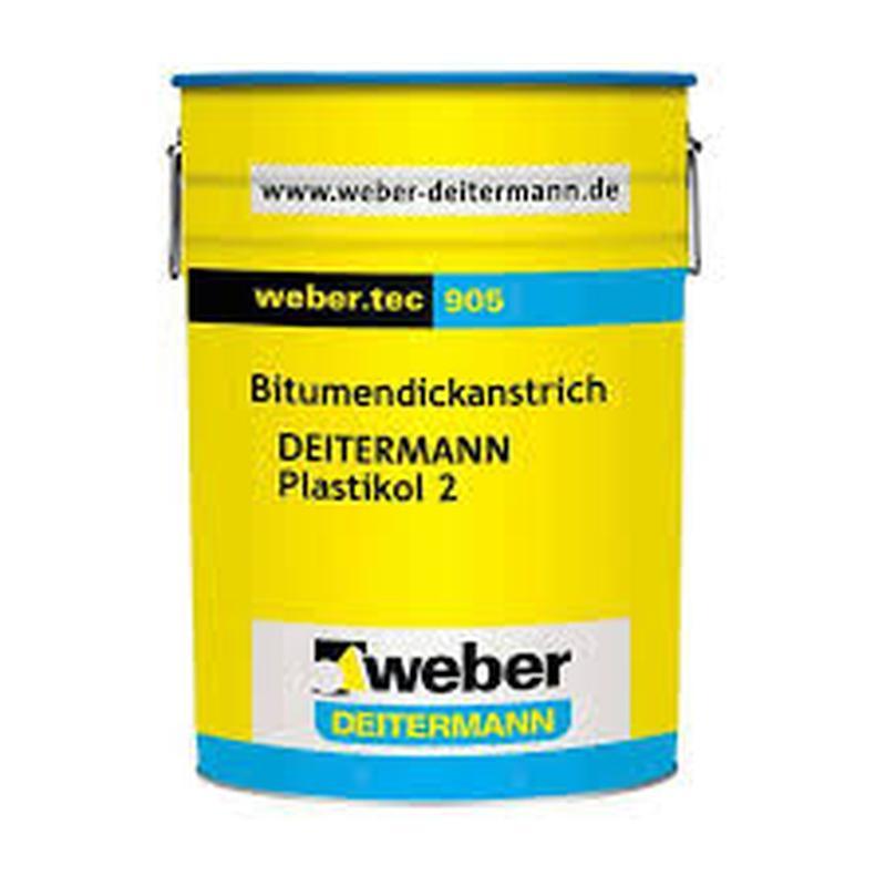 weber.tec 905 (Plastikol®2) армированное фиброй битумное покрытие