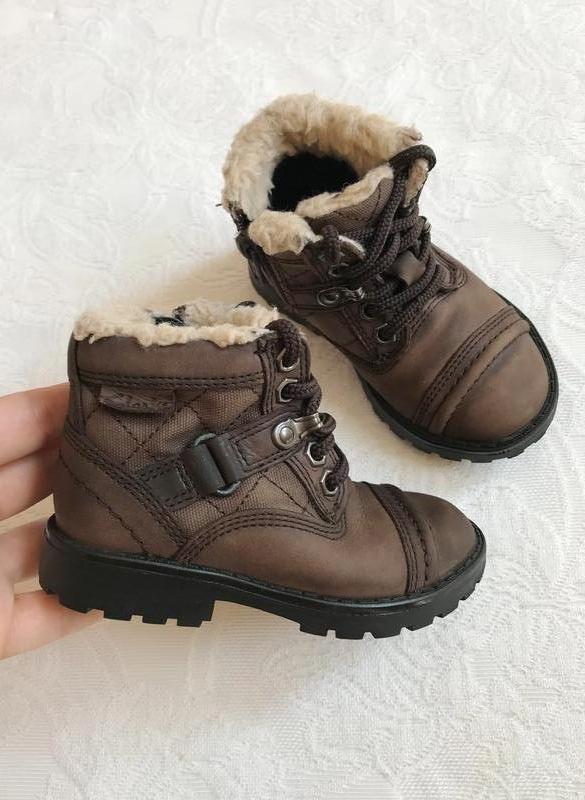 Кожаные демиcезонные ботинки/сапожки clarks
