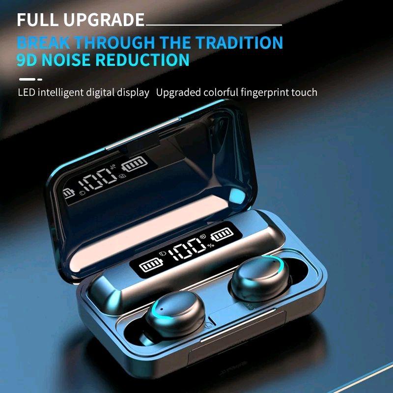 Bluetooth наушники F9/5c Беспроводные - LED Display. Power Bank - Фото 5