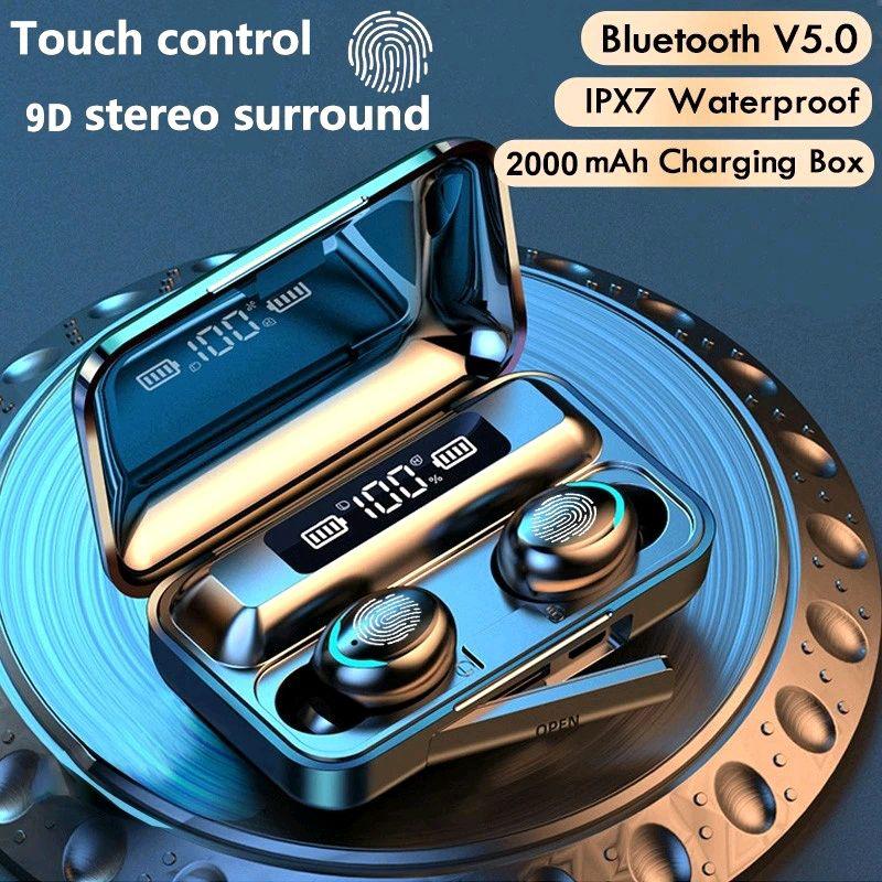 Bluetooth наушники F9/5c Беспроводные - LED Display. Power Bank - Фото 4
