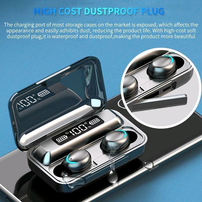 Bluetooth наушники F9/5c Беспроводные - LED Display. Power Bank - Фото 2