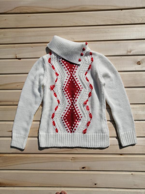 Тёплый свитер с хомутом для девочки