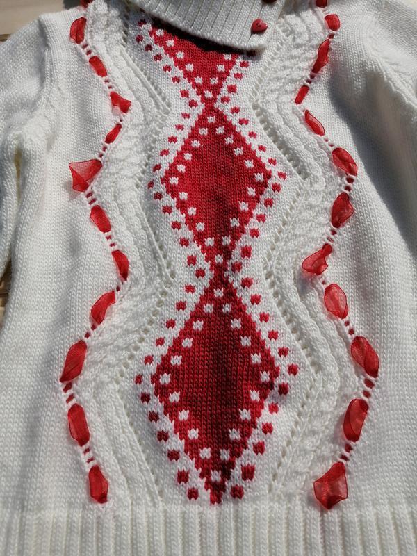 Тёплый свитер с хомутом для девочки - Фото 2
