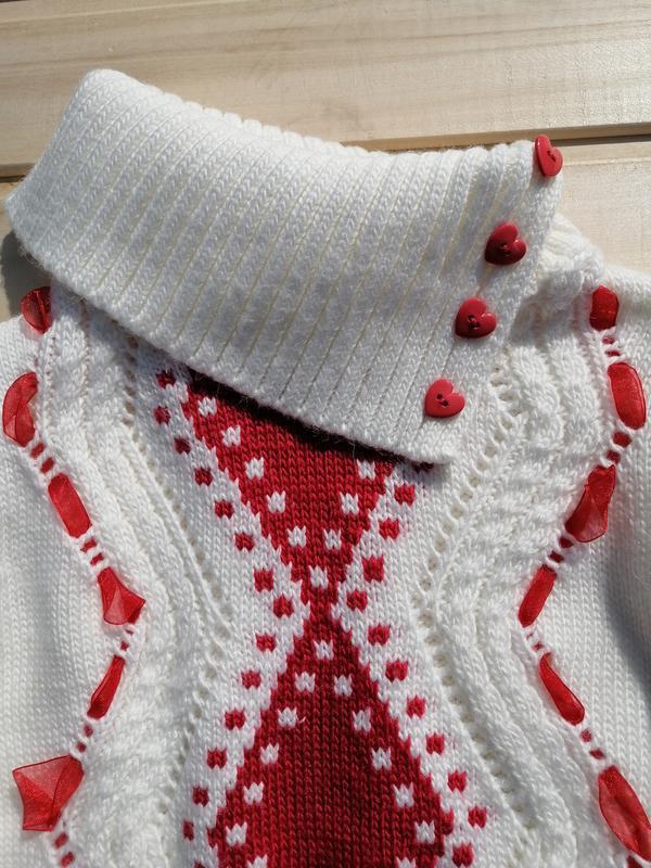 Тёплый свитер с хомутом для девочки - Фото 3