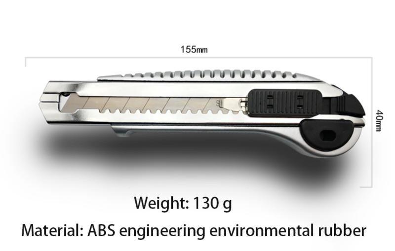 Універсальний канцелярський ніж із автоматичною заміною лез 18мм - Фото 2
