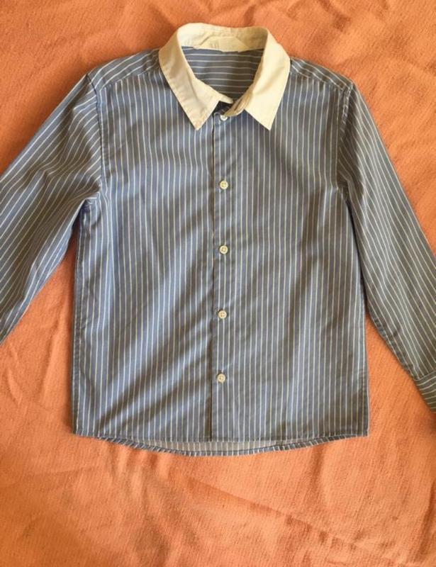 Рубашка школьная для мальчика на 6 7 лет 122 hm