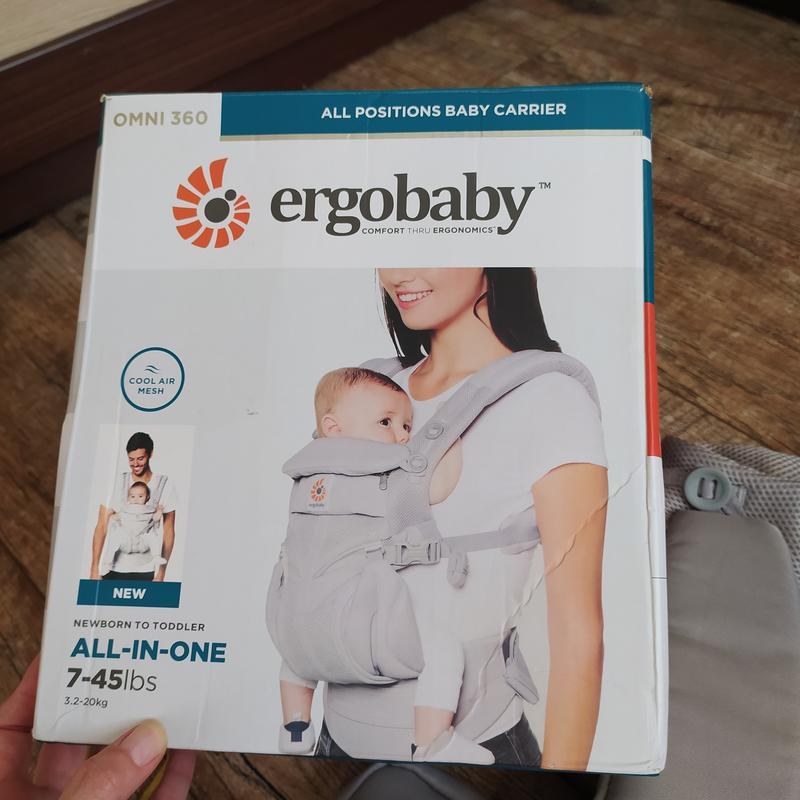 Эрго-рюкзак кенгуру слинг  ergo baby omni 360 серый с рождения 0+