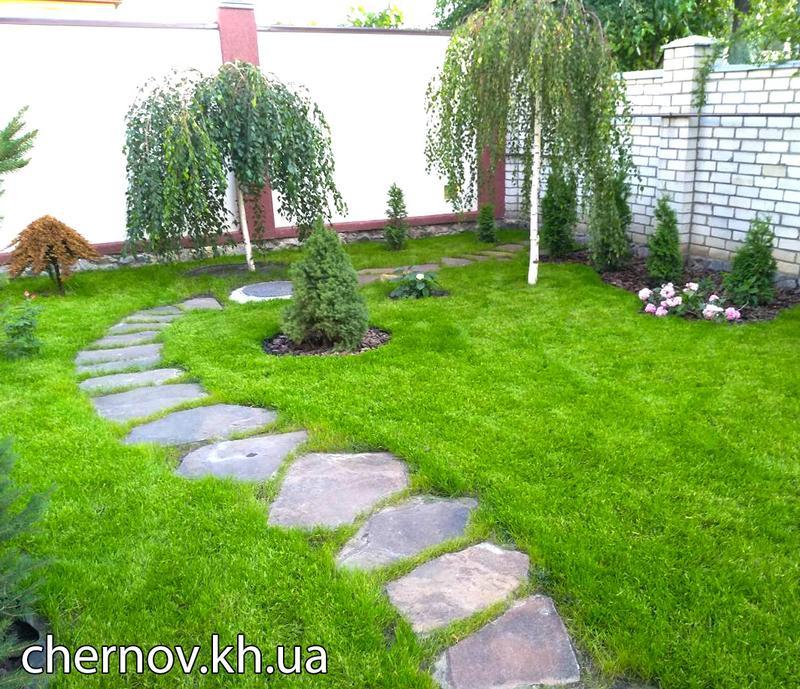 Озеленение, ландшафтный дизайн, обслуживание сада, автополив