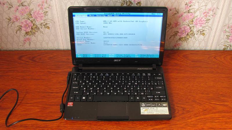 Нетбук Acer Aspire One 722 - C6Ckk (AO722) / без HDD