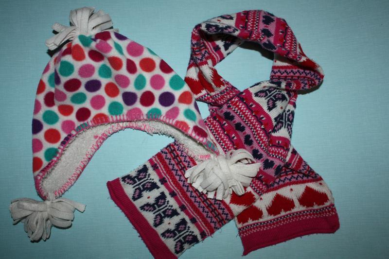 Шапка +шарф очаровательный комплект зимний ф.gap ребенку р-s/m...