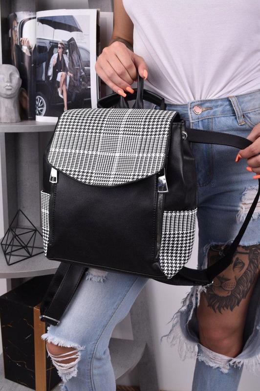 Рюкзак сумка трансформер женский городской для девушек черный